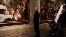Британският актьор Джереми Айронс на снимки на документалния филм II Prado Museum: Колекция от чудеса; Премиерата на филма ще бъде на 15 Април 2019 г. в Италия,