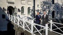 Среща на датския министър на външните работа Стеф Блок и турския му колега Мевлют Чавушоглу в Амстердам. Турския външен министър ще участва в годишното издание на витенбергската конференция