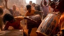 Красив кадър от празненствата във връзка с настъпването на Нова Година в Непал.
