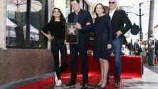 Американския актьор Сет Макфарлейн получава звезда на Алеята на славата.