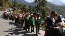 По случай 30-тия рожден ден на Панчен Лама, известен още като Гендун Чоеки Ньима, една от най-важните религиозни фигури в Тибет се организира поход от Дхарамсала до Чандигарх в Индия.