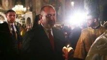 Президента на България, Румен Радев по време на настъпването на нахй-голямия христянски празник Възкресение Христово.