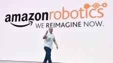 Главният технолог на Amazon Robotics, Tye Brady говори на откриването на срещата на Amazon Web Services (AWS) в Сидни, Нов Южен Уелс, Австралия, 30 април 2019 г. Събитието е едно от най – големите технологични конференции в Австралия и се очаква да събере хиляди посетители.