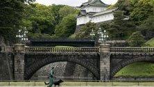 Възхитителен кадър на кралския дворец в Токио, Япония.