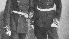 Гоце Делчев с приятеля си Гоце Имов като юнкери.