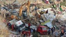 Свлачище в Ла Пас, Боливия, което разруши десетки къщи и накара стотици жители да се преместят.