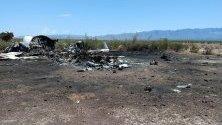 Снимка на разбит частен самолет, който изчезна в северната мексиканска държава Коауила по пътя от американския град Лас Вегас и се намира в планинска верига в Монклова, Мексико. Всички 13 обитатели на борда са били убити при катастрофата, според Държавната дирекция за гражданска защита.