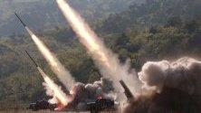 Ракетно учение на военни части на в Северна Корея.
