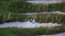 Чесън Хадли от САЩ а по време на първия кръг на първенството на 2019 PGA в Фармингдейл, Ню Йорк, САЩ. Шампионатът по голф в Америка се провежда от 16 до 19 май.