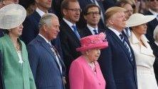 Британският премиер Тереза Мей, британският принц Чарлз Принцът на Уелс, британската кралица Елизабет II, президентът на САЩ Доналд Тръмп и  първата дама Мелания Тръмп присъстваха на честванията по случай 75-та годишнина от Деня на D, който дава началото на края на Втората Световна Война.
