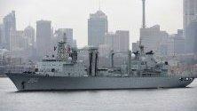 Китайският Luomahu в Сидни, Австралия. Три китайски военноморски кораби направиха, изненадващо четиридневно посещение в Сидни, като австралийският премиер Скот Морисън заяви, че това е реципрочна визита, след като австралийските военни кораби посетиха Китай.