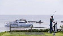 Чито Мито Перейра в действие по време на петия кръг в 119-то открито първенство по голф в Пебъл Бийч, Калифорния, САЩ. Турнирът ще се играе от 13 до 16 юни.