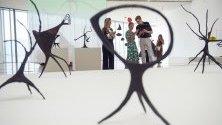 Една от творбите на покойния американски художник Александър Калдър, показани на изложбата Calder Stories в културния център Ботин в Сантандер, Испания.