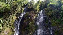 Изглед към водопадът на любовта в село Jardin, в Антиокия, Колумбия.