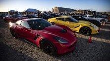 Откриване на следващото поколение на Corvette в Тъстин, Калифорния.