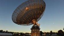 Телескопът на Обсерватория Паркс, в Западна Австралия.