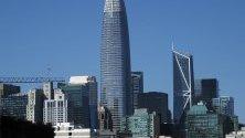 Salesforce Tower - най-високият небостъргач в Сан Франциско, САЩ. Сградата е 326 метра и има 61 етажа.