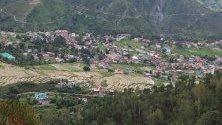 Гледка към село Дъгли в долината Чамба, Индия. Чамба е известна туристическа дестинация в щата Химачал Прадеш.