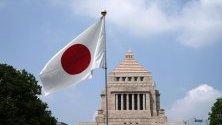 Изглед към сградата на парламента в Токио, Япония.