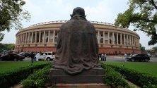 Индийският парламент в Ню Делхи, Индия.