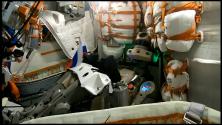 """Роботът Фьодор започна полета си до Международната космическа станция с фразата """"Поехали""""."""