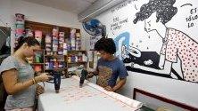 """Магазин на кубинския моден бранд """"Кландестина"""" в Хавана. Това е първата независима модна къща в страната, основана през 2015 г."""