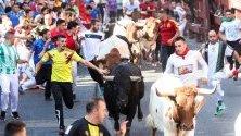 Надбягване с бикове в Сан Себастиан де лос Рейес, Испания
