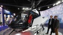 Прототип на лек многофункционален хеликоптер VRT500, изложен на авиосалона МАКС 2019 в Москва.