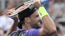 Григор Димитров достигна осминафинал на US Open.