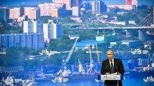 Руският президент Владимир Путин говори по време на Източния икономически форум във Владивосток.