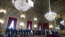 Министрите от новото италианско правителство полагат клетва при президента Серджо Матарела.