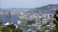 Изглед към  Нагасаки, Япония.Папа Франциск ще посети Япония от 23 до 26 ноември,включително Хирошима и Нагасаки.