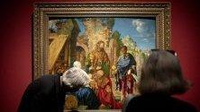 """""""Поклонението на влъхвите"""" - част от изложба на Албрехт Дюрер в музея Албертина във Виена."""