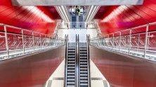 Централната метростанция в Копенхаген. Новият лъч на метрото се открива на 29 септември.