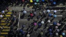 Протестите в Хонконг продължават на фона на честванията на 70-годишнината от създаването на комунистическия режим в Китай.