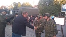 Министърът на отбраната Красимир Каракачанов на събития от кампанията ''Бъди войник'' в Габрово