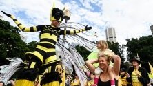 """Участници в протест на """"Extinction Rebellion"""" в Сидни в защита на климата."""