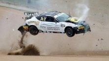 Питър Воданович катастрофира по време на тренировка за сериите Тойота 86 в Батърст, Австралия.