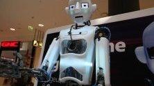 """В столичен търговски център се открива изложение """"Бъдещето с роботите Thespian, ALPHA, Robofish""""."""