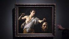 """Картината """"Давид с главата на Голиат"""" от Караваджо в Музея на история на изкуствата във Виена, Австрия. От 17 април в музея се открива изложба, посветена на Караваджо и Бернини."""