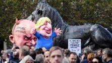 Протест срещу Brexit в Лондон с призив за референдум по последното споразумение с Европейския съюз.
