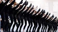 """Репетиция на танцовата трупа """"Rockettes"""" преди коледното им шоу в Ню Йорк, което се изпълнява от 1933 г."""