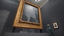 """""""Portrait of Dr Gachet"""" на изложбата """"Making van Gogh. History of a German Love"""", посветена на Винсент ван Гог, във Франкфурт, Германия."""