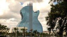 Първият в света хотел с формата на китара беше открит във Флорида - Seminole Hard Rock Hotel &   Casino Hollywood.