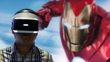 "Посетител играе на ""Железния човек"" на Sony PlayStation по време на Thailand Game Show 2019 в Банкок."