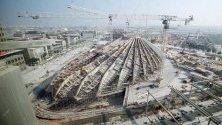 Строеж на сградите от предстоящото на 20 октомври 2020 г. Експо в Дубай. ОАЕ ще бъде първата близкоизточна държава, която ще е домакин на международното изложение.