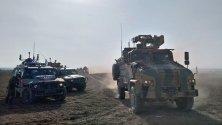 Турски и руски военни патрулират съвместно в Северна Сирия.