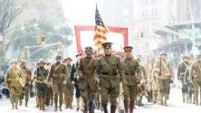 Парад-възстановка на Първата световна война по улиците на Ню Йорк. Тази година парадът чества 100-годишнината си.