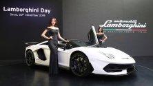 Представяне на Lamborghini Aventador Svj roadster в Сеул по време на Lamborghini Day. От модела са произведени само 800 коли.
