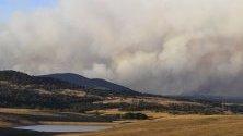 Горски пожари бушуват в националния парк Талаганда край Брейдууд, Австралия. Пожарът вече е унищожил около 7000 хектара и се разраства.